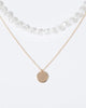 Colette by Colette Hayman Gold Pearl And Small Circle Pendant Necklace
