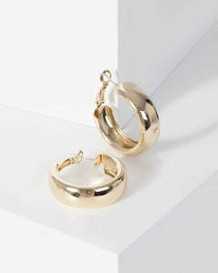 Colette by Colette Hayman Gold Plain Matte Hoop Earrings