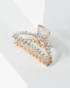 Colette by Colette Hayman Gold Round Crystal Detail Claw Hair Clip