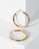 Colette by Colette Hayman Gold Shiny Plain Hoop Earrings