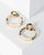 Colette by Colette Hayman Gold Small And Large Double Acrylic Hoop Earrings