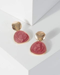 Colette by Colette Hayman Gold Small Double Metal And Stone Earrings
