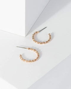 Colette by Colette Hayman Gold Small Twisted Effect Hoop Earrings