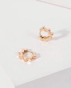 Colette by Colette Hayman Gold Star Point Huggie Hoop Earrings