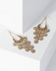 Colette by Colette Hayman Gold Teardrop Multi Coin Earrings