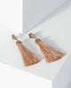 Colette by Colette Hayman Gold Textured Metal Tassel Earrings