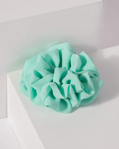 Colette by Colette Hayman Green Multi Frill Layer Scrunchie