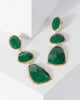 Colette by Colette Hayman Green Multi Layer Stone Shape Drop Earrings