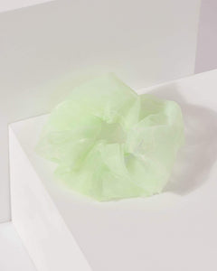 Colette by Colette Hayman Green Plain Organza Scrunchie