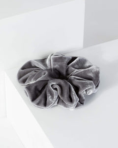 Colette by Colette Hayman Grey Velvet Large Scrunchie