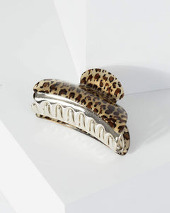 Colette by Colette Hayman Multi Colour Leopard Print Claw Hair Clip
