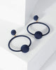 Colette by Colette Hayman Navy Blue Thread Wrapped Circle Earrings