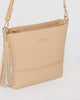 Colette by Colette Hayman Nude Pia Tassel Medium Crossbody Bag
