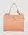 Colette by Colette Hayman Peach Stephanie Square Lock Tote Bag
