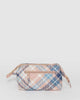 Colette by Colette Hayman Pink And Blue Check Structured Cosmetic Case
