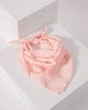 Colette by Colette Hayman Pink Check Detail Fabric Hair Tie
