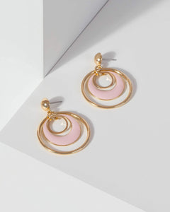 Colette by Colette Hayman Pink Circle Drop Earrings