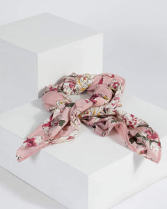 Colette by Colette Hayman Pink Floral Print Headscarf