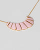Colette by Colette Hayman Pink Metal Plate Short Necklace