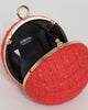 Colette by Colette Hayman Red Miley Round Clutch Bag