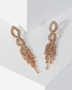 Colette by Colette Hayman Rose Gold Crystal Twist Drop Earrings