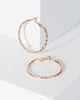Colette by Colette Hayman Rose Gold Detail Medium Hoop Earrings