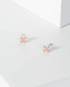 Colette by Colette Hayman Rose Gold Mini X Stud Earrings