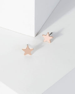 Colette by Colette Hayman Rose Gold Star Stud Earrings