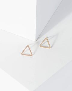 Colette by Colette Hayman Rose Gold Triangle Stud Earrings