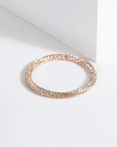 Colette by Colette Hayman Rose Gold Twisted Diamante Bracelet