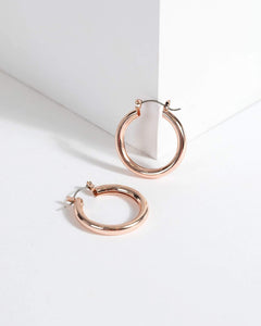 Colette by Colette Hayman Rose Gold Wide Hoop Earrings