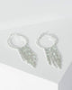 Colette by Colette Hayman Silver Diamante Hoop And Tassel Earrings