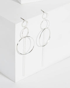 Colette by Colette Hayman Silver Grad Ring Drop Earrings