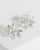 Colette by Colette Hayman Silver Large Diamante Flower Earrings