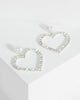 Colette by Colette Hayman Silver Large Diamante Heart And Detail Drop Earrings