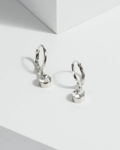 Colette by Colette Hayman Silver Mini Hoop With Crystal Earrings