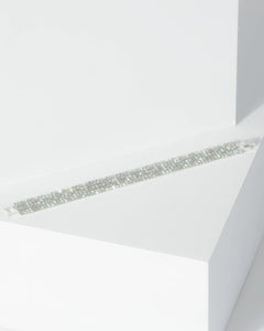 Colette by Colette Hayman Silver Multi Row Small Diamante Detail Bracelet