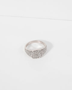 Colette by Colette Hayman Silver Pave Square Band Ring