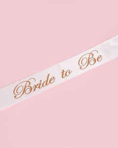Colette by Colette Hayman White Bride To Be Sash