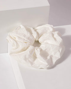 Colette by Colette Hayman White Line Detail Scrunchie