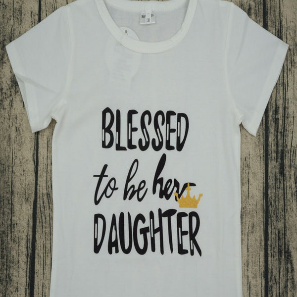 Mommy & Me Blessed T-Shirt Set
