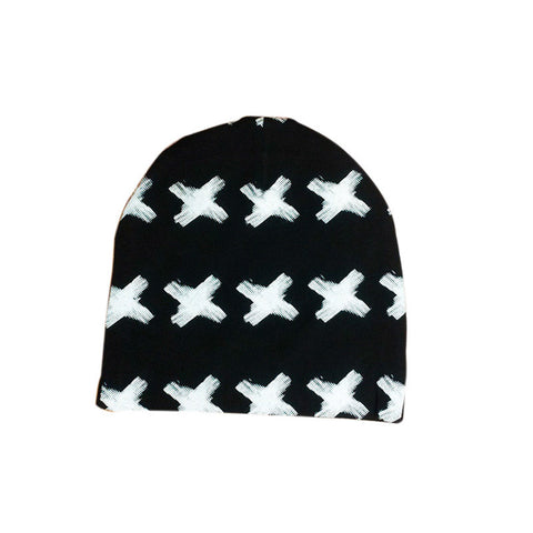Printed X Pattern  Cotton Hat
