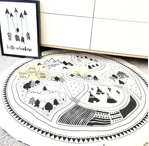 Car Track Play Mat
