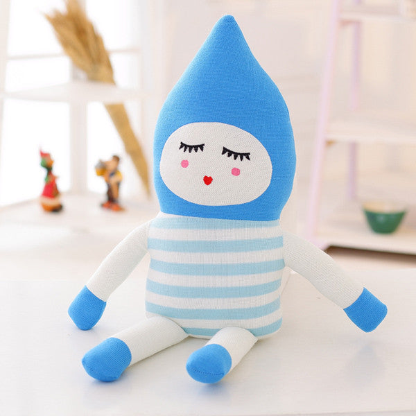 Blue Spaceman Sweetie Knitting Wool Doll