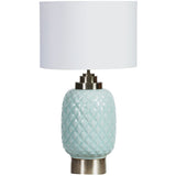 Pineapple Lamp with Chrome Base