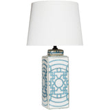 Geometric Pale Blue Lamp