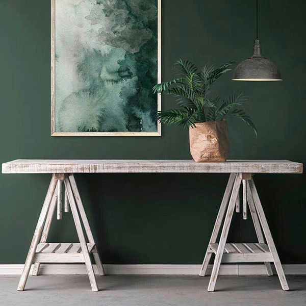 Whitewash Adjustable Trestle Desk/Console