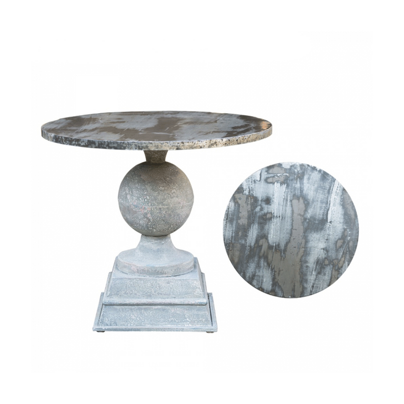 Round Dining Table Pewter