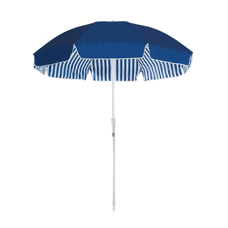 Navy & White Stripe Family Beach Umbrella