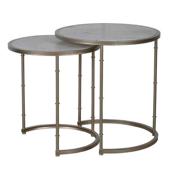 Set 2 Eclipse Marble Top Tables